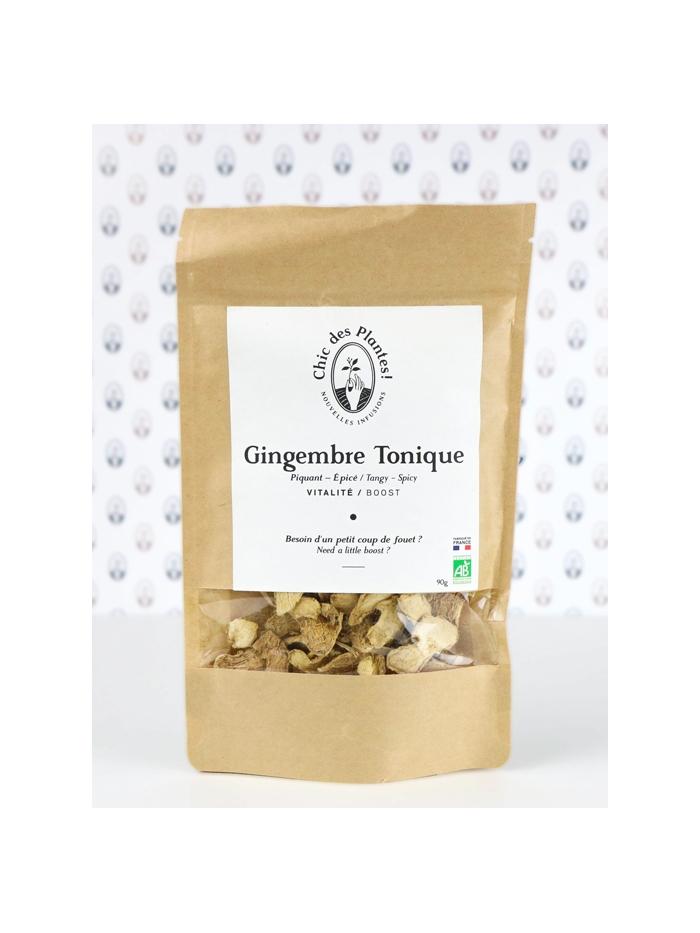 Tisane gingembre bio sans arôme ajouté - Gingembre Tonique de Chic des Plantes !