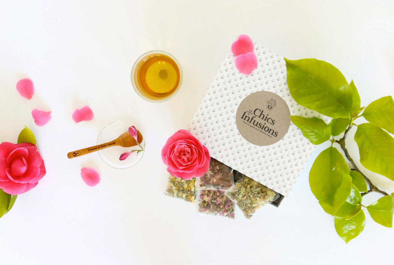 Boîte INFUSIONS BIO – Chic des Plantes ! – Chics Infusions : Morphée, Péché mignon, Belle Plante, Pousse Délice