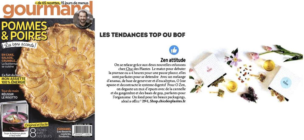 Gourmand Magazine Chic Des Plantes octobre 2016