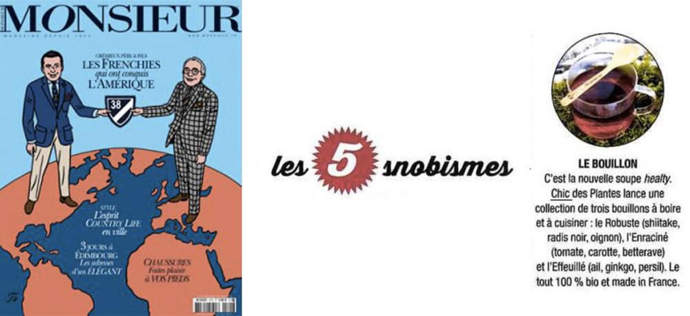 Monsieur Magazine Chic Des Plantes octobre 2016